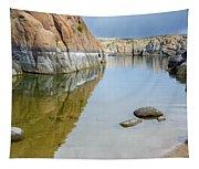Lake Reflections At Granite Dells Tapestry