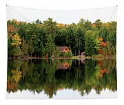 Lake Reflections Panorama 4370 4371 Tapestry