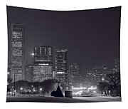 Lake Shore Drive Chicago B And W Tapestry