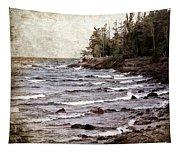 Lake Superior Waves Tapestry