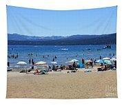 Lake Tahoe Beach Scene Tapestry