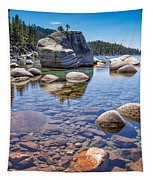 Lake Tahoe Rocks Tapestry