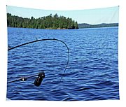 Lake Trout Fishing Tapestry