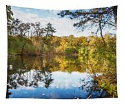 Lake Waterford Fall - Watercolor Fx Tapestry