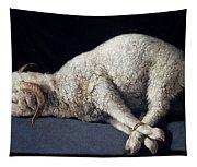Lamb Of God. Agnus Dei Tapestry