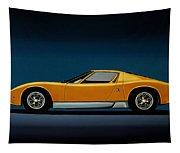 Lamborghini Miura 1966 Painting Tapestry