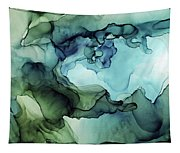 Land And Water Abstract Ink Painting Tapestry