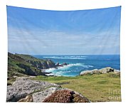 Land's End And Longships Lighthouse Cornwall Tapestry