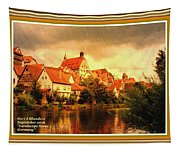 Landscape Scene - Germany L A With Decorative Ornate Printed Frame. Tapestry