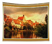 Landscape Scene - Germany. L B With Decorative Ornate Printed Frame. Tapestry