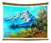 Landscape Scene Near Virginiahurst L A With Alt. Decorative Ornate Printed Frame. Tapestry