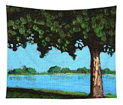 Landscape With A Lake And Tree Tapestry