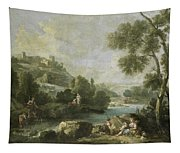 Landscape With Figures Tapestry