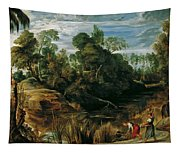 Landscape With Milkmaids And Cows Tapestry
