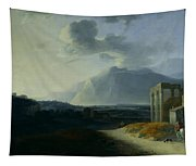Landscape With Mount Stromboli Tapestry