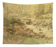 Landscape With Rocks In A River Tapestry