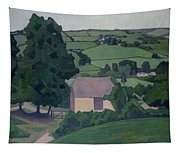 Landscape With Thatched Barn Tapestry
