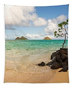 Lanikai Beach 1 - Oahu Hawaii Tapestry