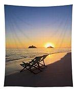 Lanikai Lounging At Sunrise Tapestry