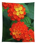 Lantana Bandana Red Flower Tapestry