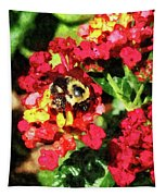 Lantanas And The Bee Tapestry