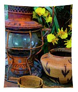 Lantern With Baskets Tapestry
