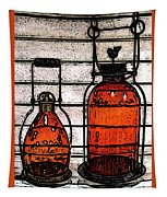 Lanterns Still Life Tapestry