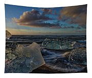 Large Icebergs At Dawn #4 - Iceland Tapestry