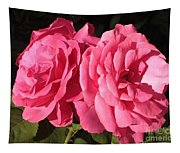 Large Pink Roses Tapestry