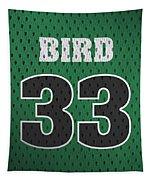 Larry Bird Boston Celtics Retro Vintage Jersey Closeup Graphic Design Tapestry