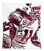 Larry Fitzgerald Arizona Cardinals Pixel Art 1 Tapestry