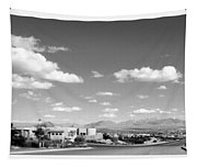 Las Cruces Mountains Black And White Tapestry