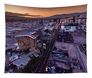 Las Vegas Strip Aloft Tapestry
