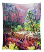 Last Light In Zion Tapestry
