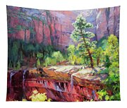 Last Light In Zion Tapestry