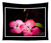 Last Of The Pink Dianthus Flowers Tapestry