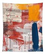 Last Train To Kobenhavn- Art By Linda Woods Tapestry