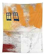 Last Train To Stockholm- Art By Linda Woods Tapestry