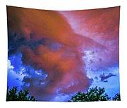 Late Night Nebraska Shelf Cloud 010 Tapestry