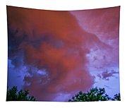 Late Night Nebraska Shelf Cloud 011 Tapestry