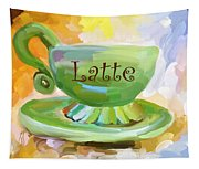 Latte Coffee Cup Tapestry