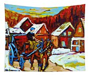 Laurentian Village Ride Tapestry
