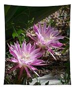 Lavendar Cactus Flowers Tapestry