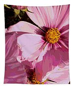 Layers Of Pink Cosmos - Digital Art Tapestry