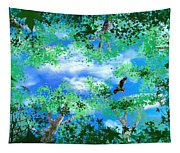 Laying On A Hammock Tapestry