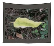 Leaf Floating In Space Tapestry