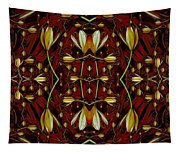 Leather In Floral Harmony And Peace Tapestry