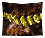 Leaves All In A Row Tapestry