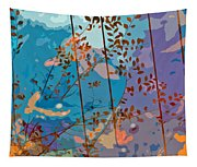 Leaves And Wire Tapestry