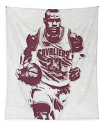 Lebron James Cleveland Cavaliers Pixel Art 4 Tapestry
